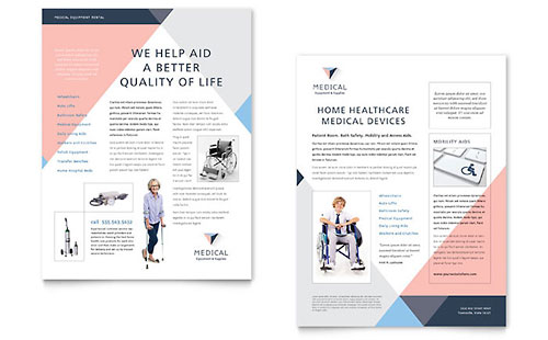 Home Medical Equipment Datasheet Template