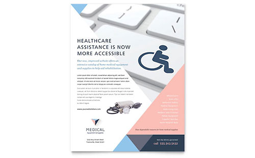 Home Medical Equipment Flyer Template