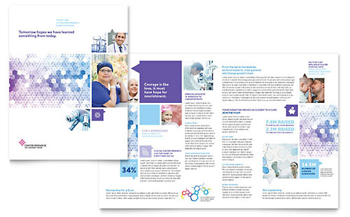 Template Design Library on chiropractic office brochure