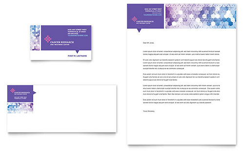 Cancer Treatment Business Card & Letterhead Template
