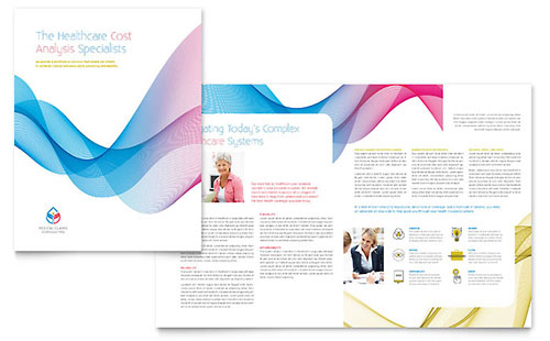 Insurance Consulting Print Design Brochure Template