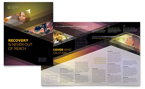 Rehab Center Print Design Brochure Template