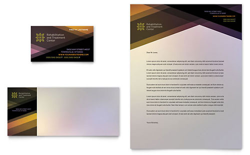 Rehab Center - Business Card & Letterhead Template