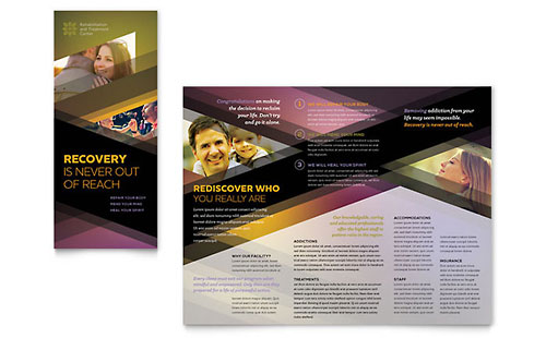 Rehab Center Tri Fold Brochure Template