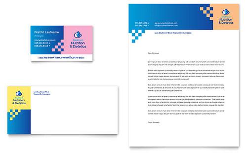 Dietitian - Business Card & Letterhead Template