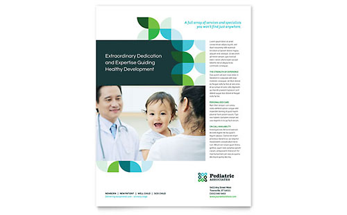 Pediatric Doctor Leaflet Template