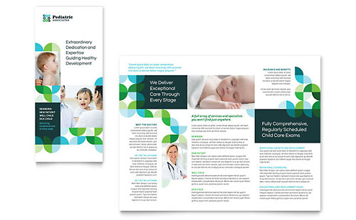 Pediatric Doctor Tri Fold Brochure Template