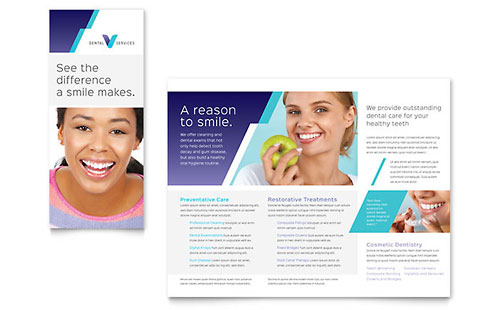 Dentist Brochure Template - QuarkXPress