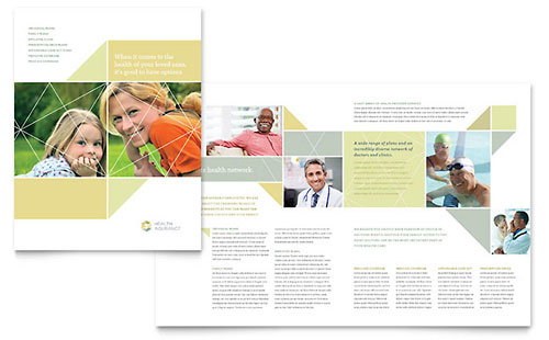 Health Insurance Brochure Template - Pages