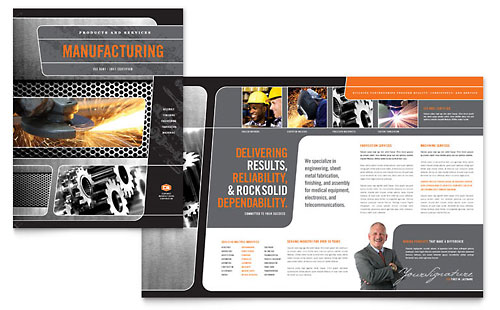 Manufacturing Engineering Brochure Template