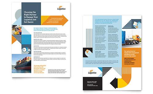 Logistics & Warehousing Datasheet Template