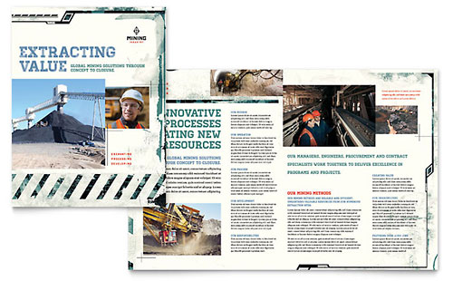 Mining Company Brochure Template - Publisher