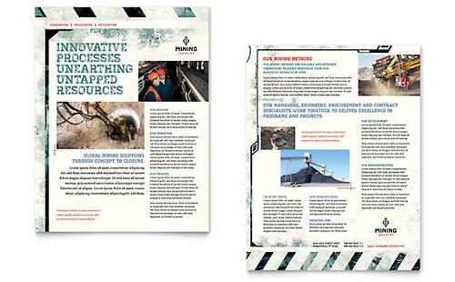 Mining Company - Sample Sales Sheet Template