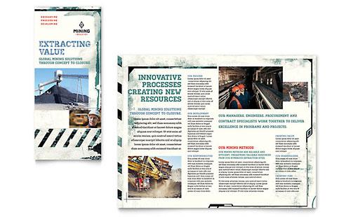 Mining Company Tri Fold Brochure