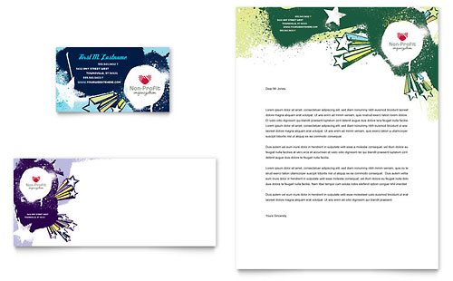 Child Advocates Business Card & Letterhead Template