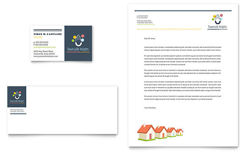 Homeowners Association Business Card & Letterhead Template