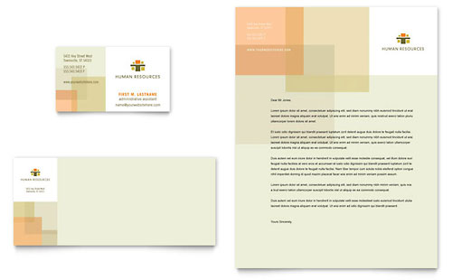 HR Consulting Business Card & Letterhead Template