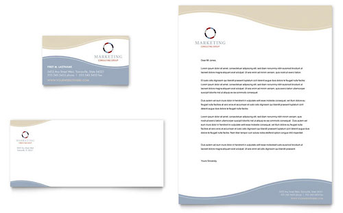 Marketing Consulting Group Business Card & Letterhead Template