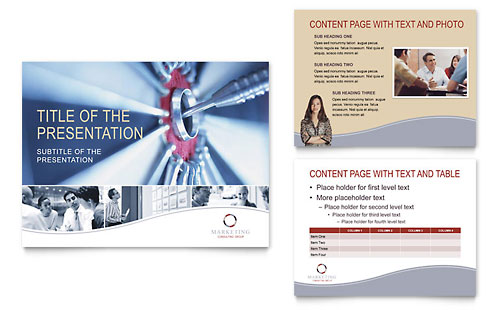 Marketing Consulting Group PowerPoint Presentation Template