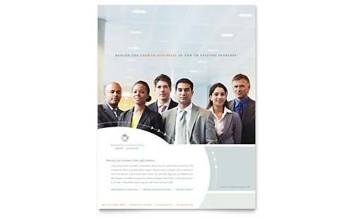 Business Consulting Flyer Template