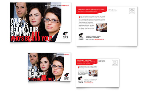 Business Executive Coach Postcard Template