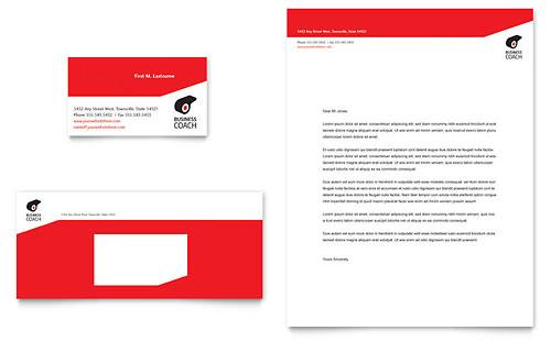 Business Executive Coach - Business Card & Letterhead Template