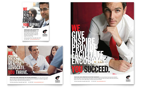 Business Executive Coach Flyer & Ad Template