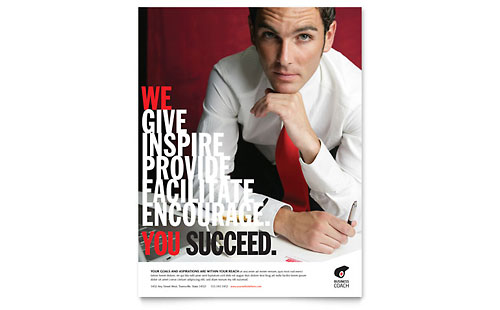 Business Executive Coach Flyer Template