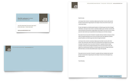 Architect Business Card & Letterhead Template