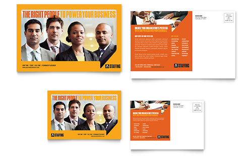 Staffing & Recruitment Agency Postcard Template