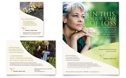 Memorial & Funeral Program Flyer & Ad Template