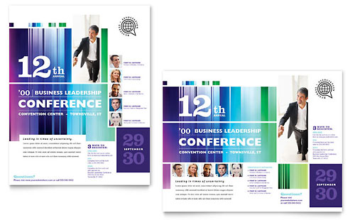 Business Leadership Conference Poster Template