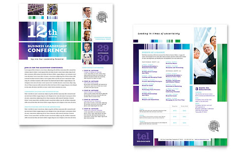 Business Leadership Conference Datasheet Template