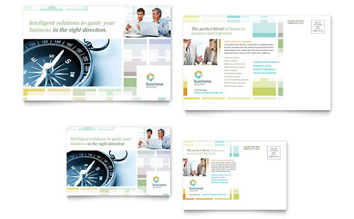 Business Solutions Consultant Postcard Template