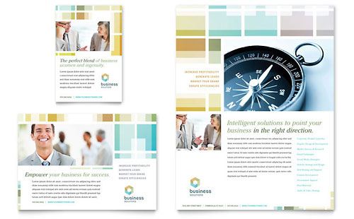 Business Solutions Consultant Flyer & Ad Template