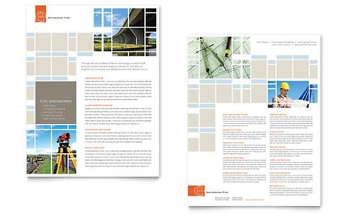 Civil Engineers Datasheet Template