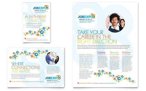 Job Expo & Career Fair - Flyer & Ad Template
