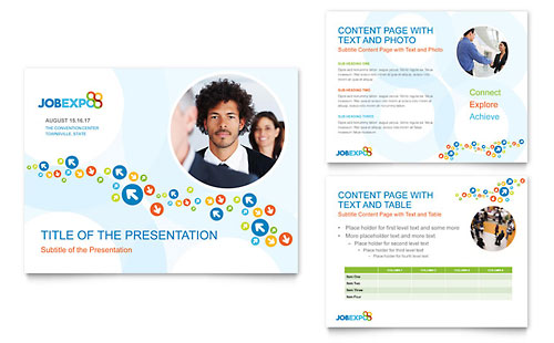 Job Expo & Career Fair PowerPoint Presentation Template