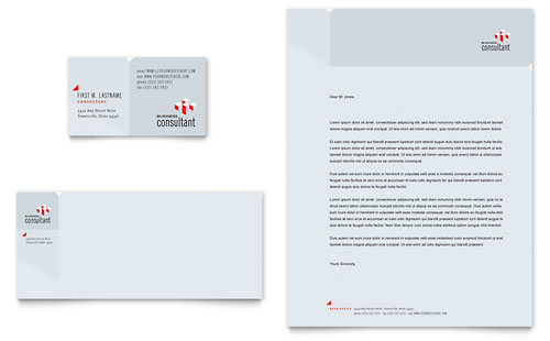 Corporate Business Business Card & Letterhead Template