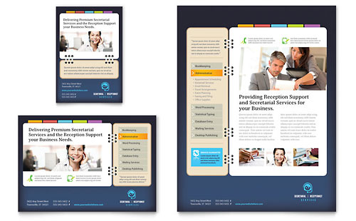 Secretarial Services - Flyer & Ad Template