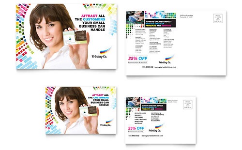 Printing Company Postcard Template