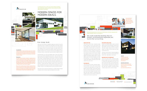 Architectural Design Datasheet Template
