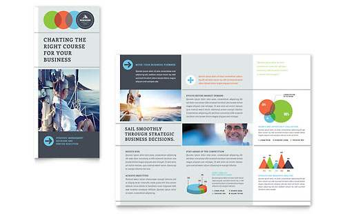 Business Analyst Tri Fold Brochure Template