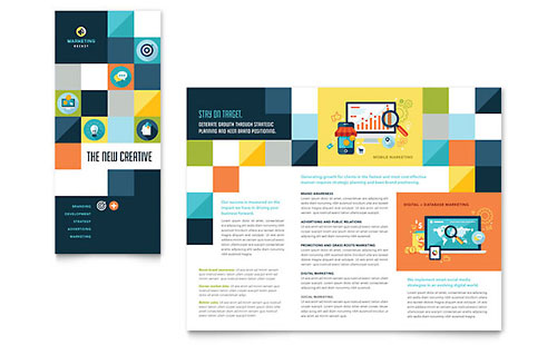 Advertising Company Tri Fold Brochure Template