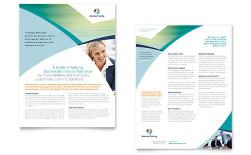 Business Training Sales Sheet Template