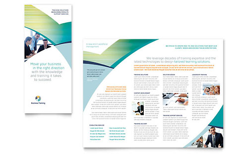 Business Training Tri Fold Brochure Template