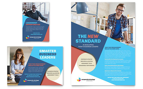 Corporate Strategy Flyer & Ad Template