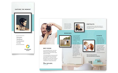 Photographer Tri-Fold Brochure Template