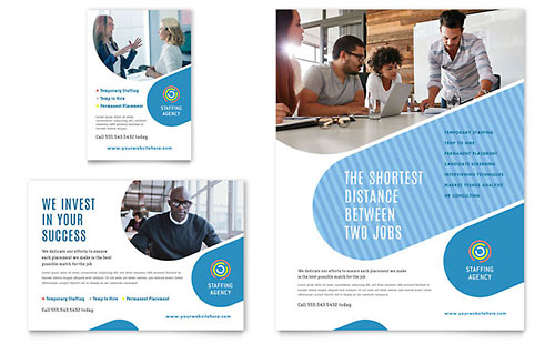 Employment Agency Print Ad Template