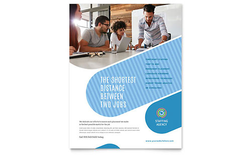 Employment Agency Leaflet Template